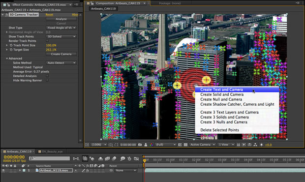 After Effects CS6 Camera Tracker