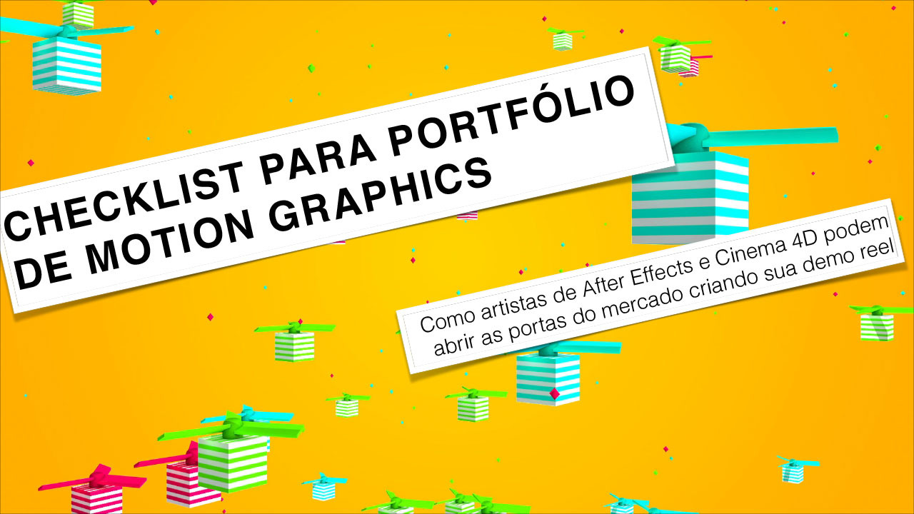 Checklist para portfólio de motion graphics